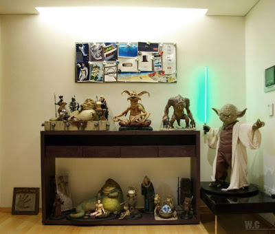 star wars collectibles 582x495 Lo último en decoración al estilo Star Wars