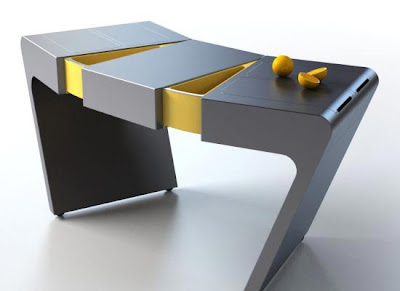 accordion table Una mesa de cocina flexible