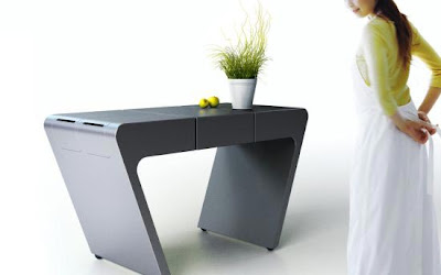 accordion table3 Una mesa de cocina flexible