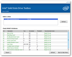 Intel SSD Toolbox - Check SMART Attributes