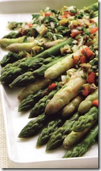 White & green asparagus salad