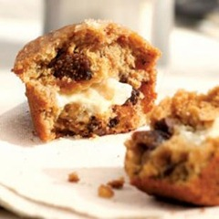 Honey & Goat Cheese Fig Muffins