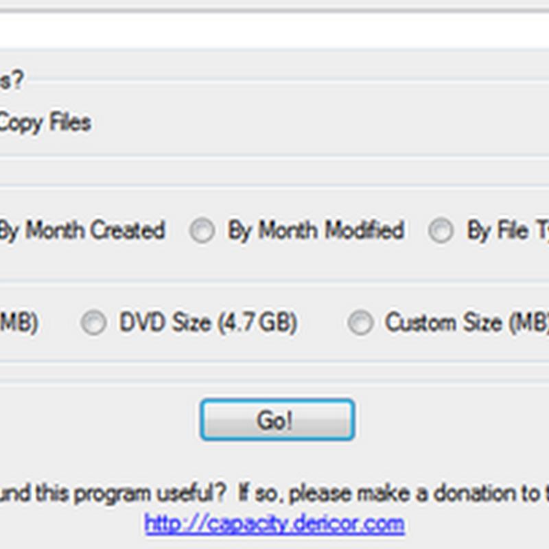 Organiza tus archivos por tamaño con Capacity