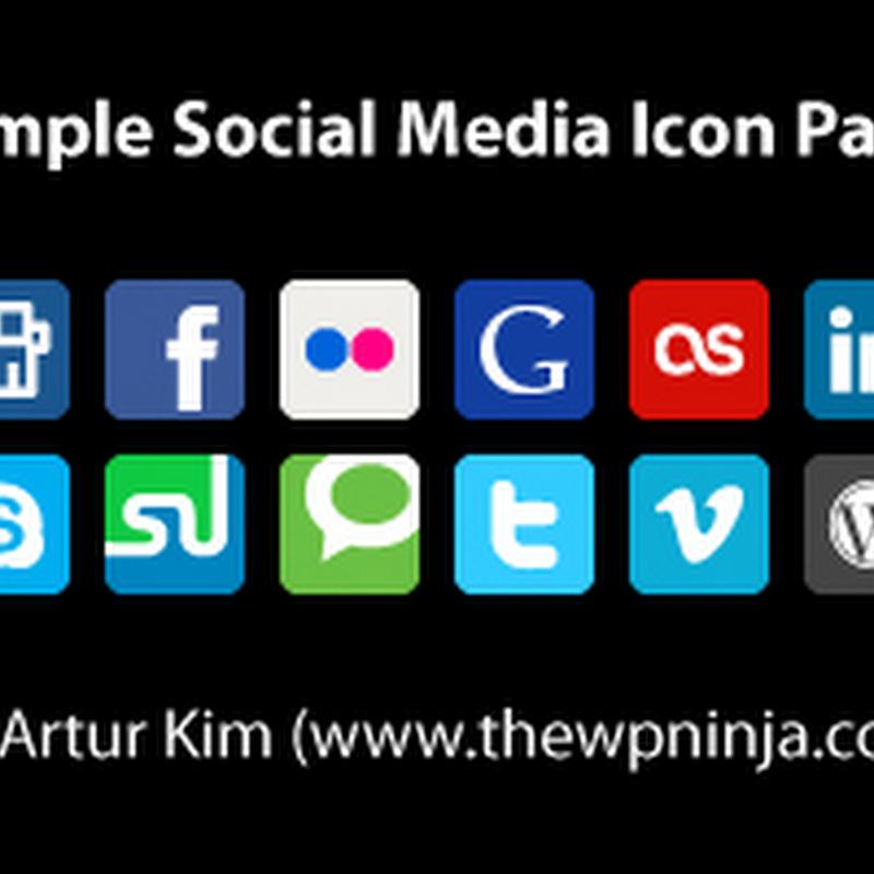 20 íconos minimalistas de redes sociales