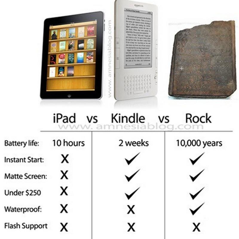 Una piedra le gana al iPad