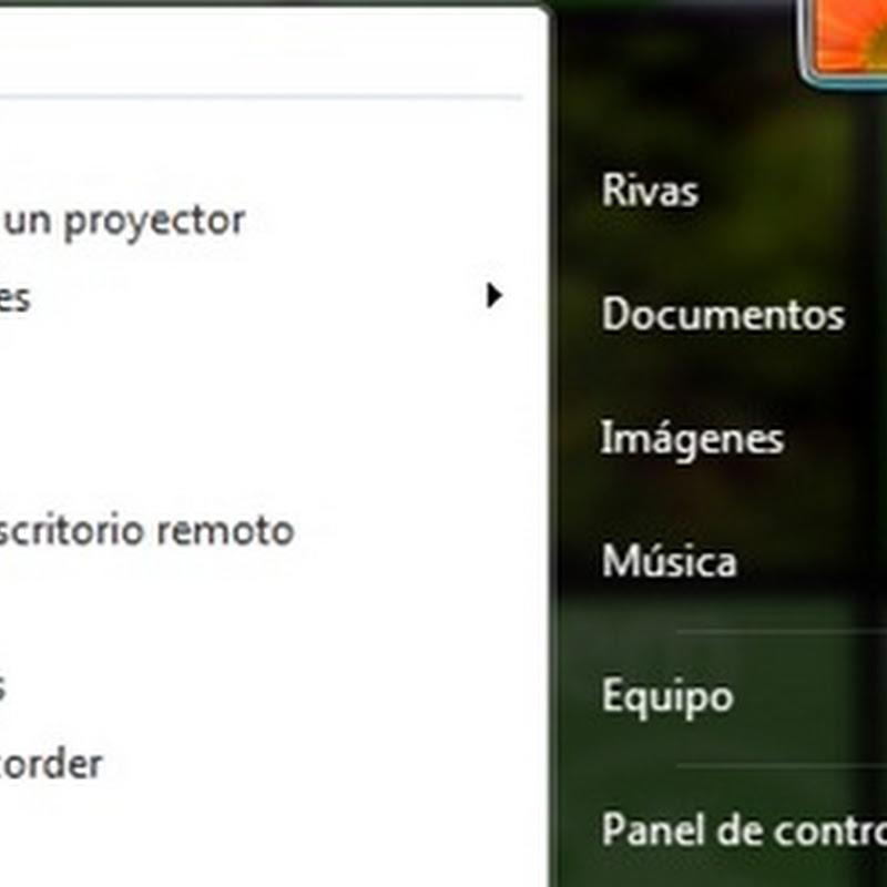 Minimizar íconos del botón de inicio de Windows 7