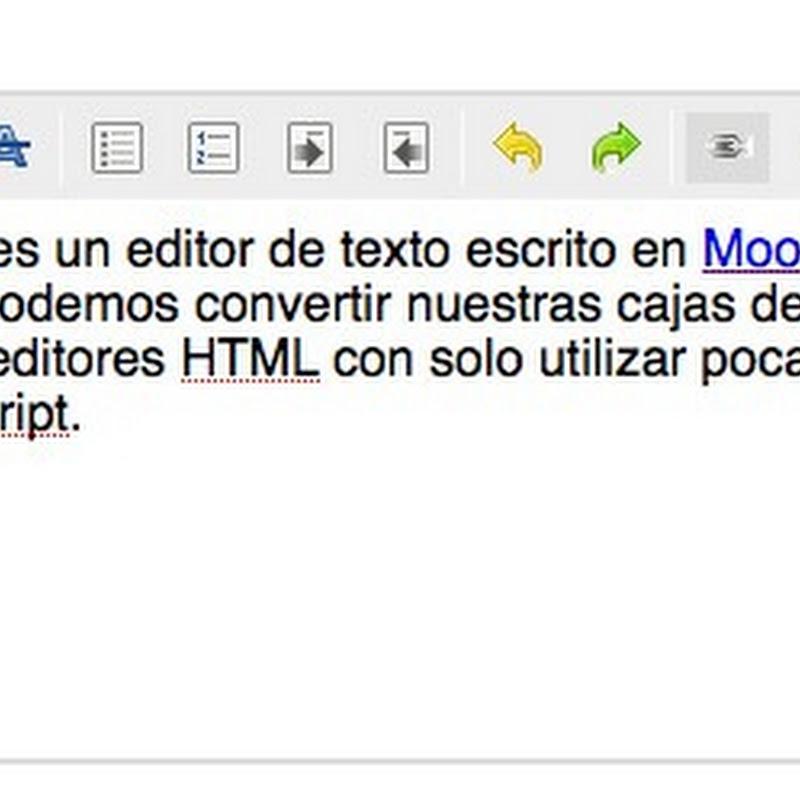Edito HTML en Mootols