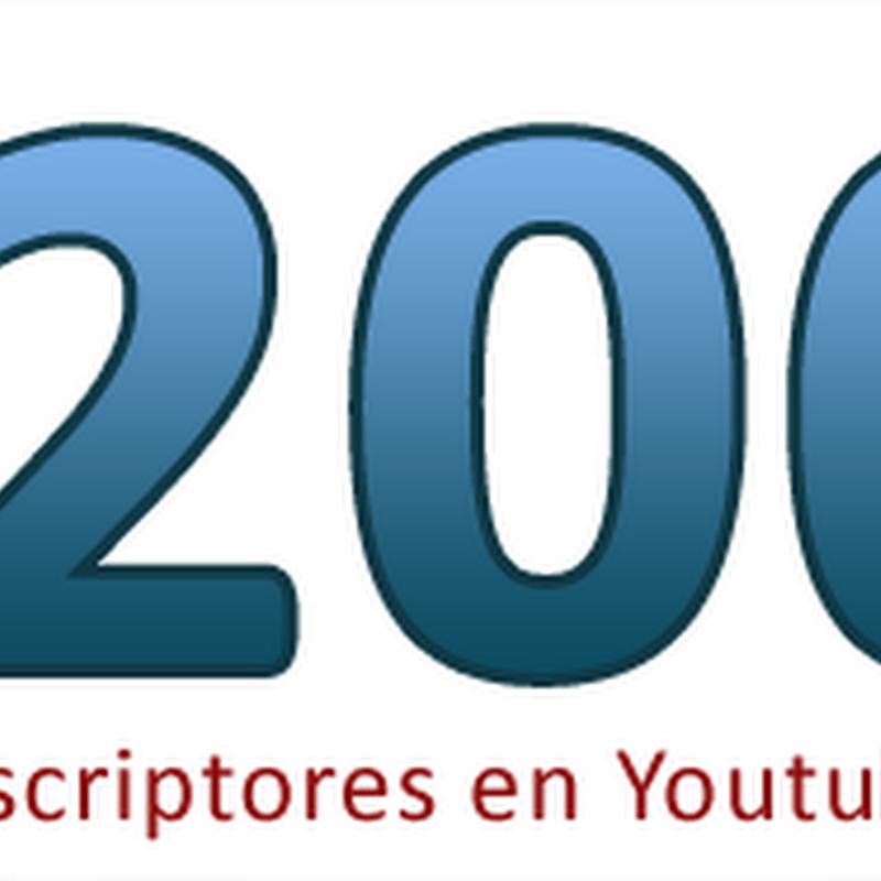 Ya somos más de 200 en Youtube