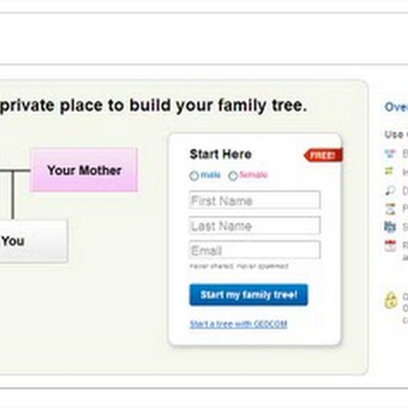 Crea tu árbol genealógico con Geni