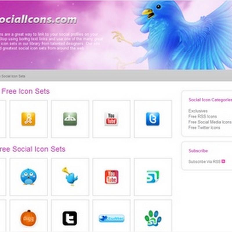 Sitio de íconos sociales