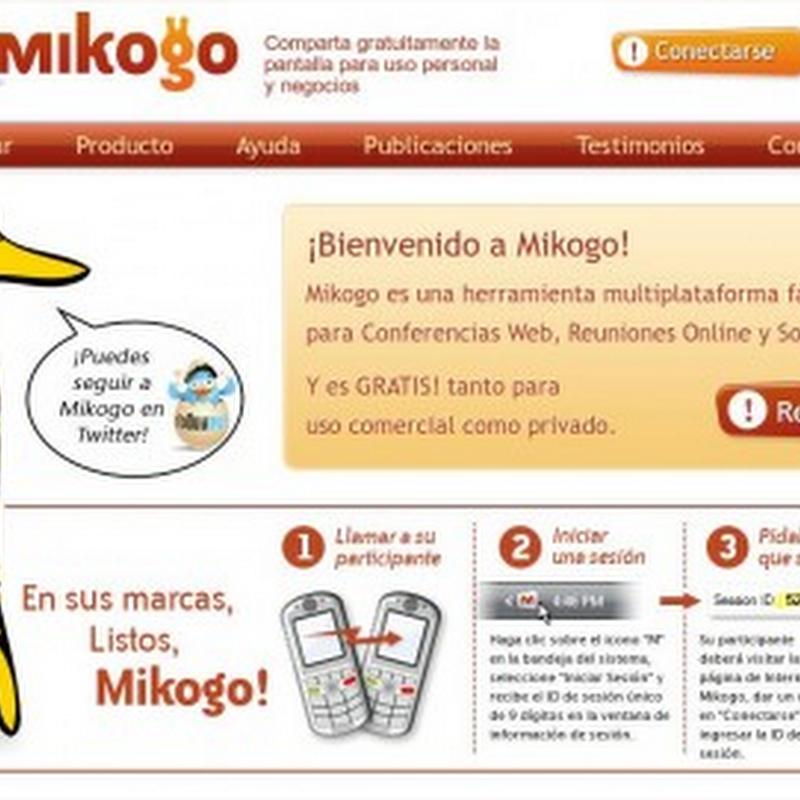 Mikogo, aplicación gratuita para conferencias y más