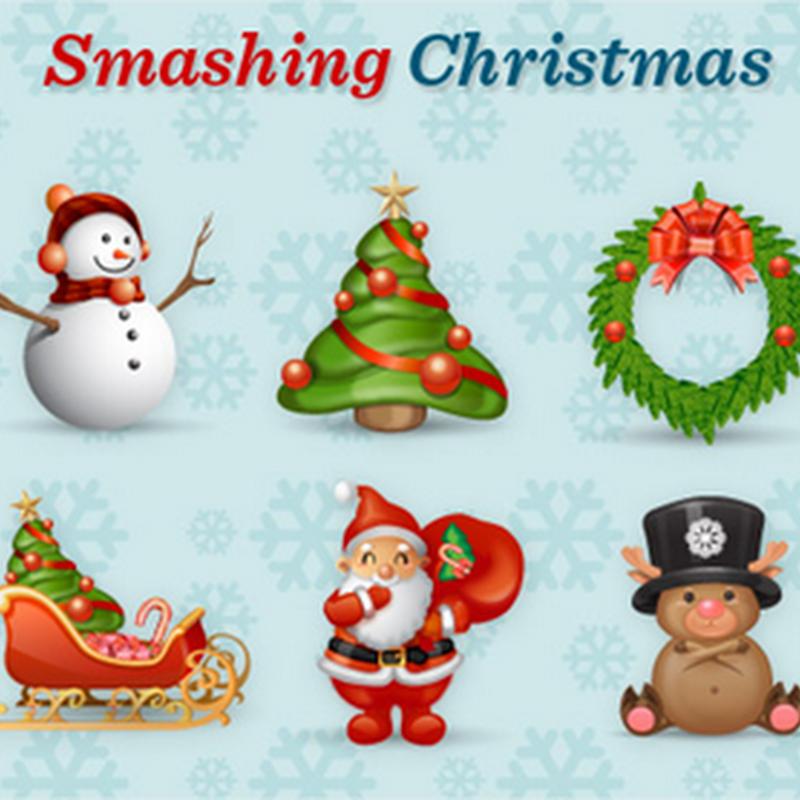 Set de íconos navideños
