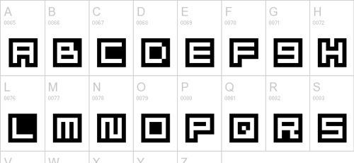 10-alphabet-pixel-font