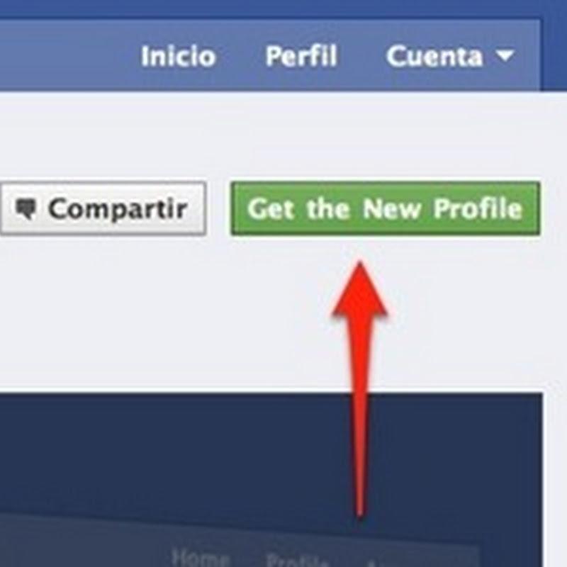 Cómo activar el nuevo perfil de Facebook