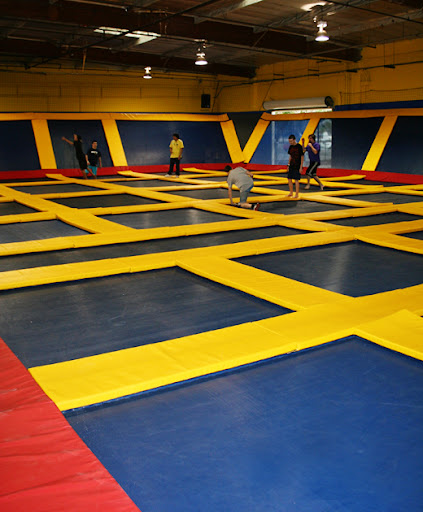 Sky High Sports has 5 different trampoline areas. the largest area is where