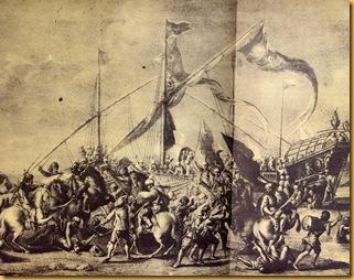batalla piratas en tierra