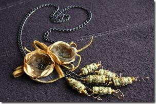 collana fiori organza-5