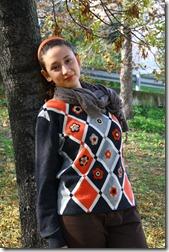 Maglione con fiori di feltro-7