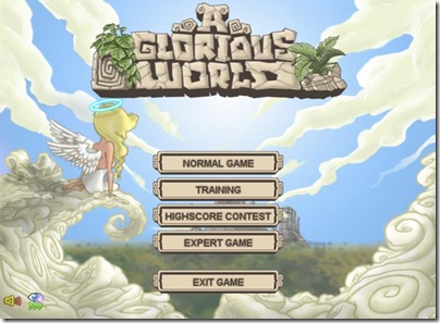 main menu for A Glorious World
