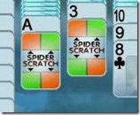 scratchcards in Rainy Day Spider Solitaire