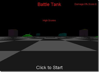 Battle Tank start screen