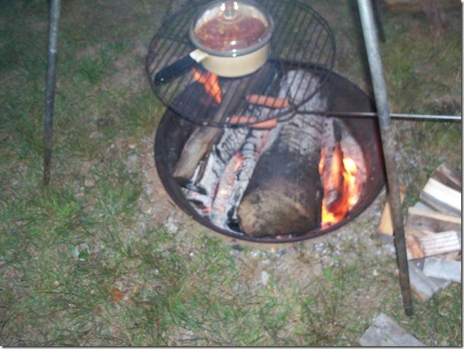 acyrlic fish table camping