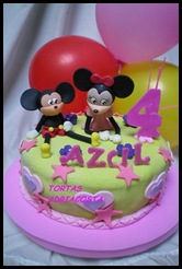 Mickey y Minnie azul