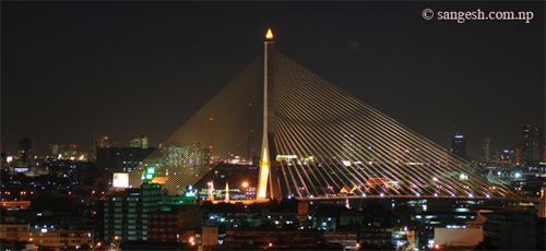 Rama IX bridge - Night Photography
