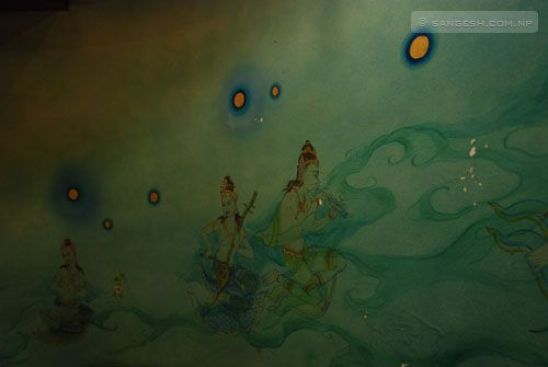 Wall painting of Hindu stories