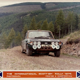 J6749, formerly the World Cup car UKV701H. Running on the 1972 Scottish Rally with Brian Englefield and Keith Baker. Picture courtesy of Brian Englefield.