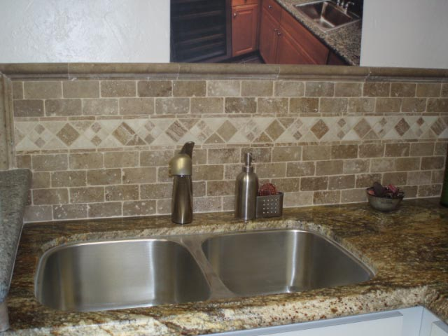 Tumbled Stone Backsplash Group Picture Image By Tag. Subway ...