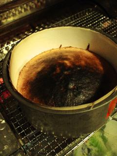 トースターでケーキを焼く