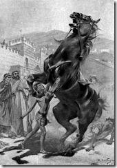 Укрощение Буцефала (рис. André Castaigne)