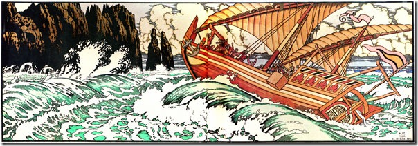 """Синдбад-мореход"". Иллюстрация И.Я. Билибина"