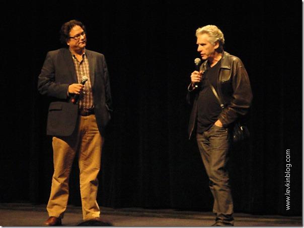 Дэвид Кроненберг (справа) отвечает на вопросы зрителей (23 сентября 2010 года)