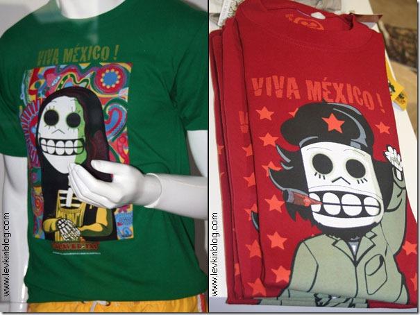Дань мексиканскому Дню Смерти (2 ноября): шуточные футболки со стилизованными Моной Лизой и Че Геварой