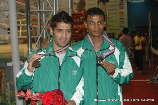 Waseem20secure20bronze20in20Combat20Boxing - Sports Competition March 2011