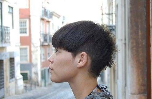 2010 short haircut with long fringes