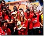Presidente do mengão Patrícia - Flamengo junior bi campeão 2011