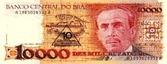 Homenagem a  Carlos Chagas Brasil nota de 10000 Cruzados dinheiro - witian blog personalidades mineiras