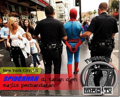 spiderman-arrested