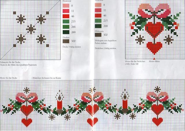 новогоднее сердечко вышивка