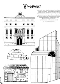 dibujos EDIFICIOS COLOREAR