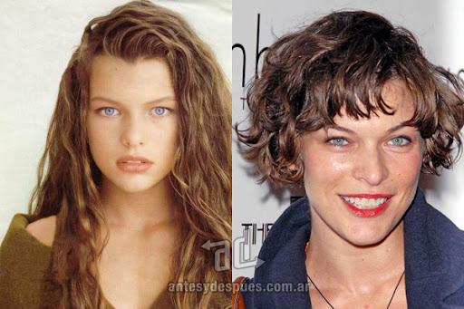 Antes y despues de Milla Jovovich - Corte de pelo, nuevo look