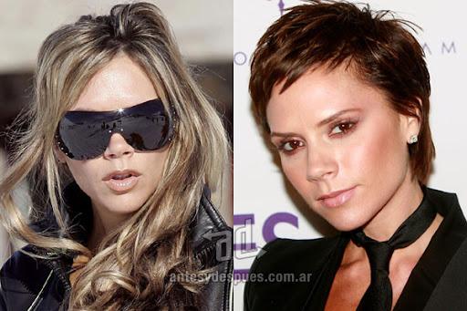 Antes y despues de Victoria Beckham - Corte de pelo, nuevo look