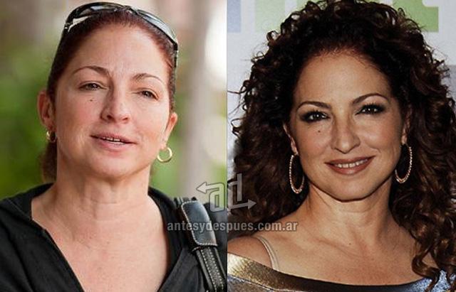 Gloria Estefan sin maquillaje