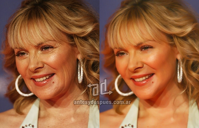 Kim Cattrall sin Photoshop