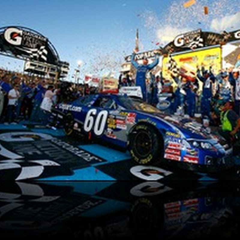 Carl Edwards wins the Wypall 200 at Phoenix