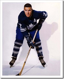 Tim Horton in Toronto Maple Leafs uniform