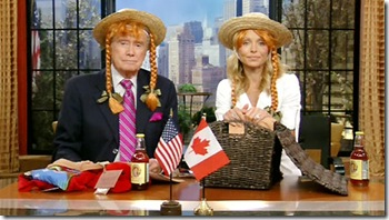 Regis and Kelly return home to New York with all their PEI tourist memorabilia